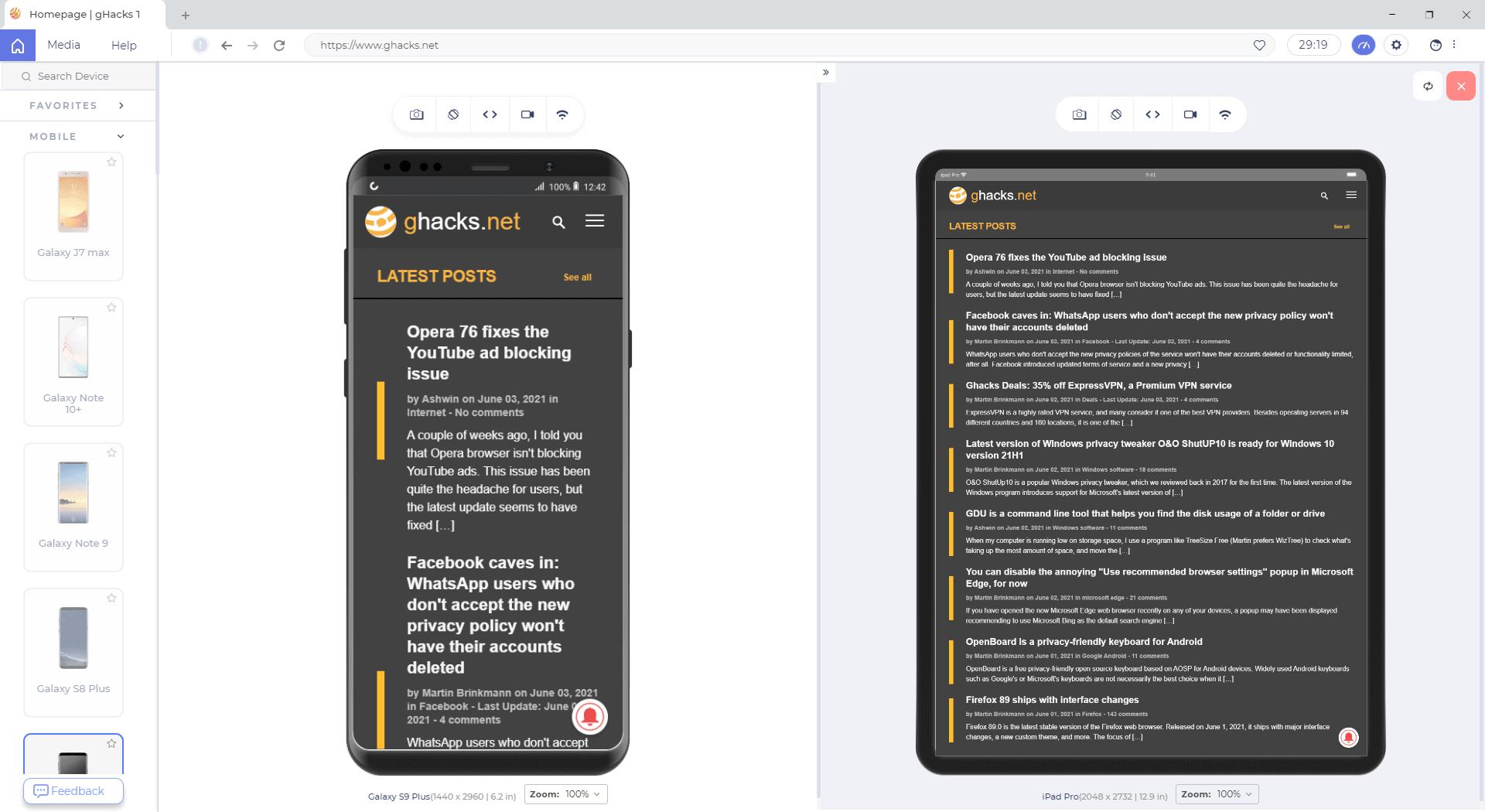 lambda test browser compare