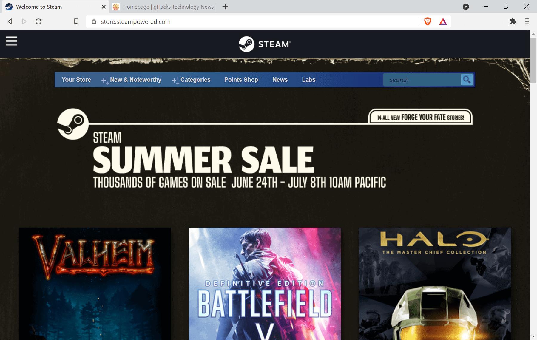 steam summer sale 2021