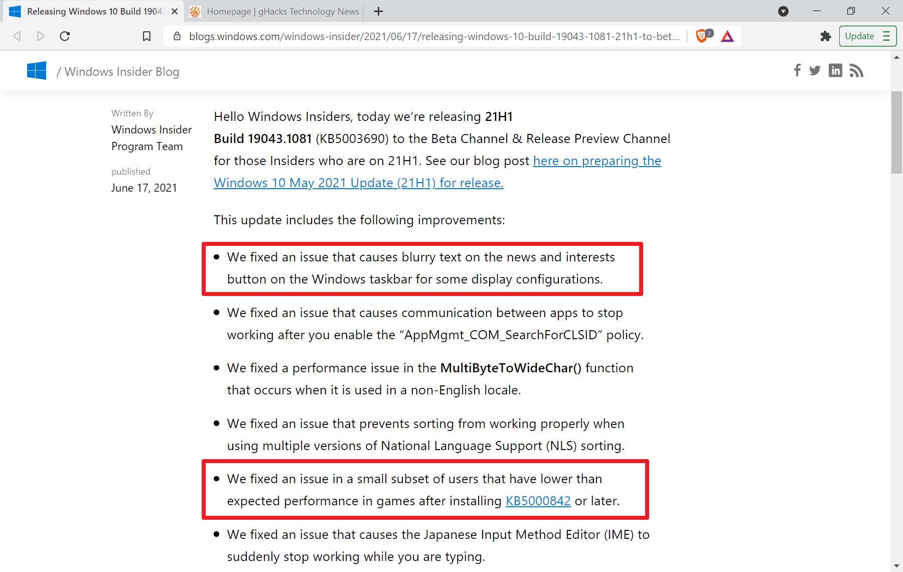 windows 10 fix game performance news