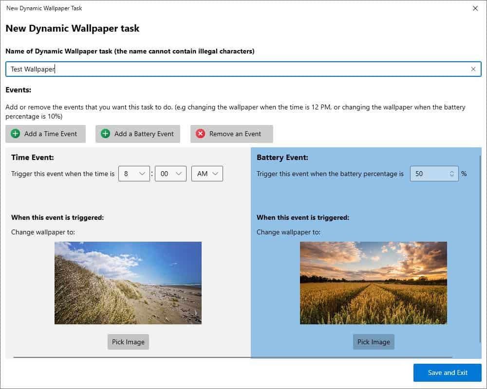 DynaWin dynamic desktop wallpaper task