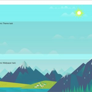 DynaWin is a simple tool that can change the Windows theme or desktop wallpaper automatically