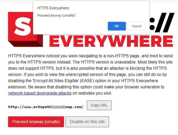 HTTPS Everywhere Chrome Extension