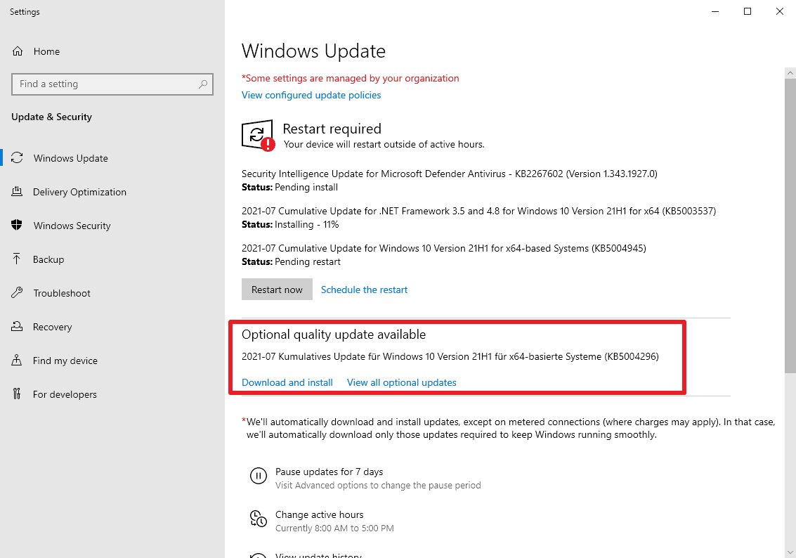 KB20 is an optional update for Windows 20 with lots of fixes ...