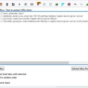 Open Multiple URLs - paste links