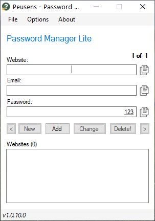 Password Manager Lite is a user-friendly offline password manager for Windows