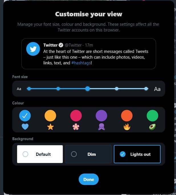 TweetDeck Preview new display options
