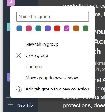 edge tab groups create