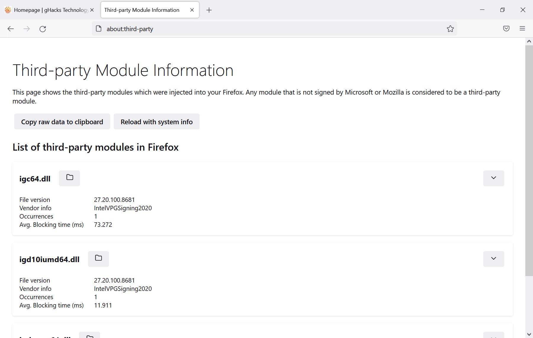 firefox third-party modules