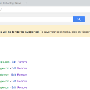 google bookmarks end of support