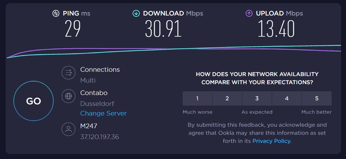 nordvpn benchmark internet speed