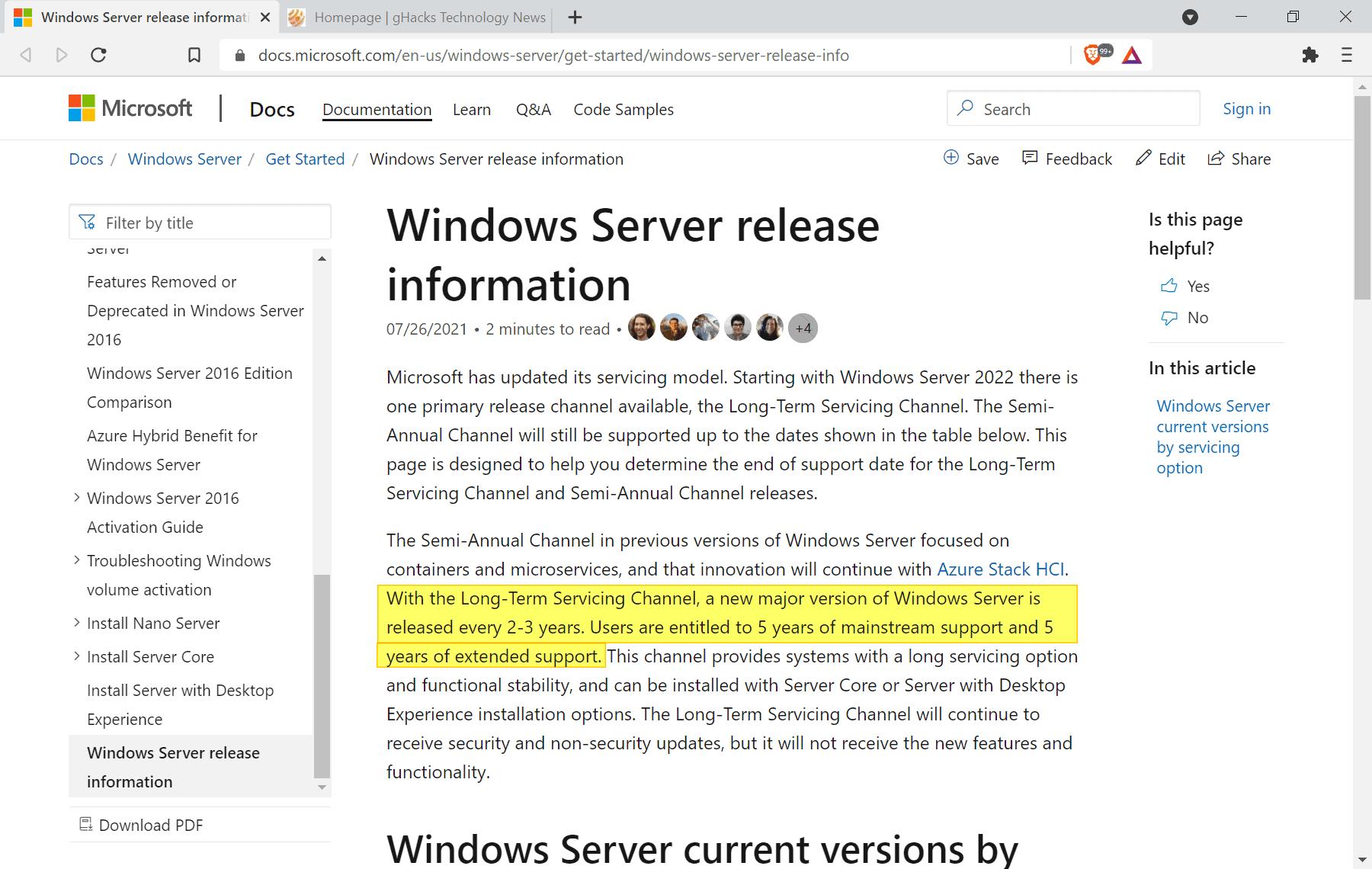 windows server 2022 ltsc