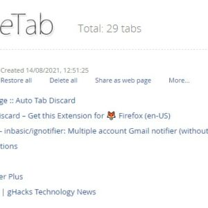 Top 15 productivity extensions for Chrome - OneTab