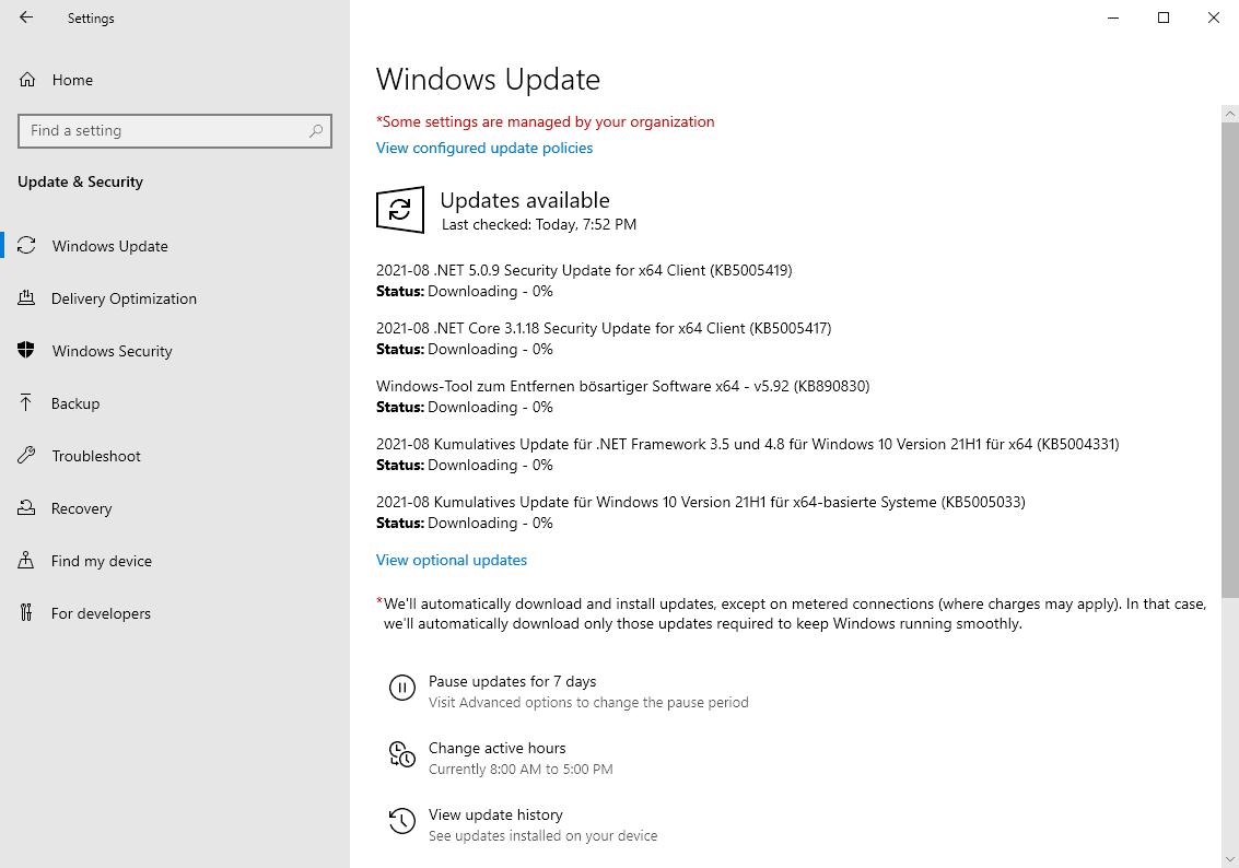 microsoft windows security updates august 2021