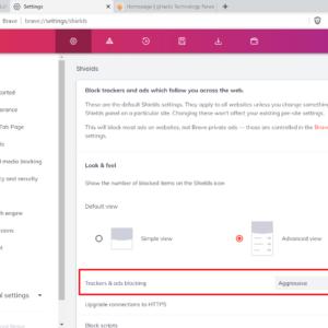 brave 1.30 blocking settings