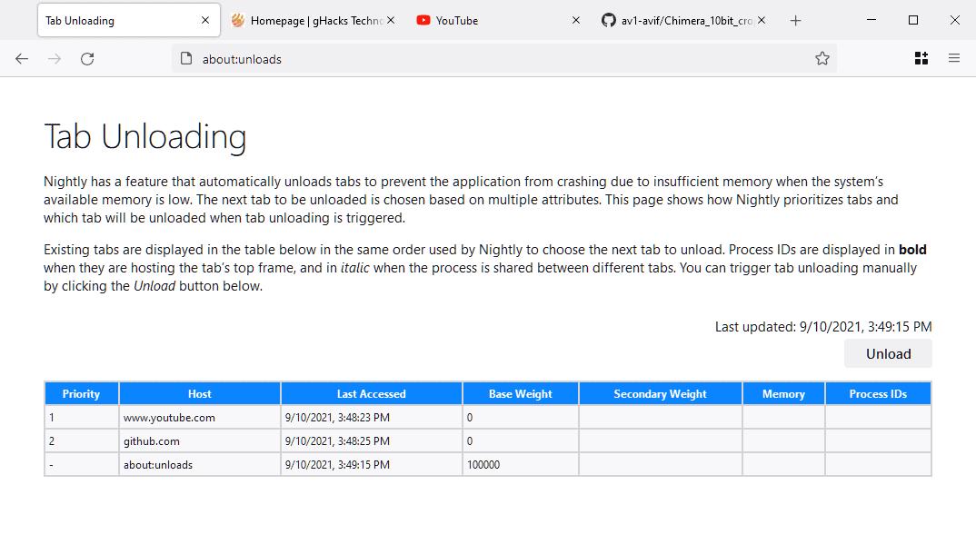 firefox tab unloading