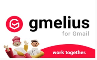 1. Logo for the Gmelius Chrome extension for Gmail