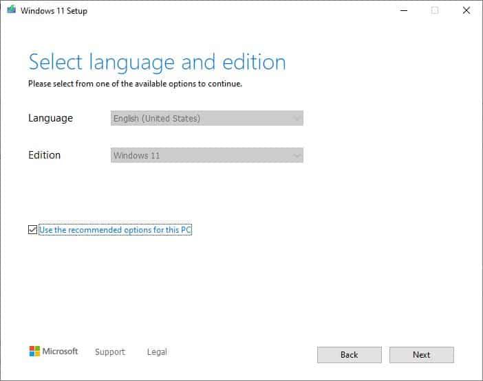 Windows 11 Installation Media Creation Tool