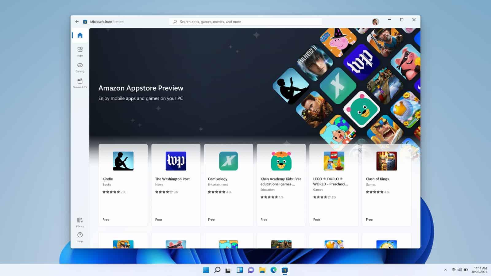 amazon appstore preview windows 11