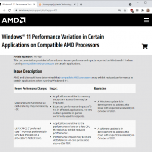 amd windows 11 performance issue