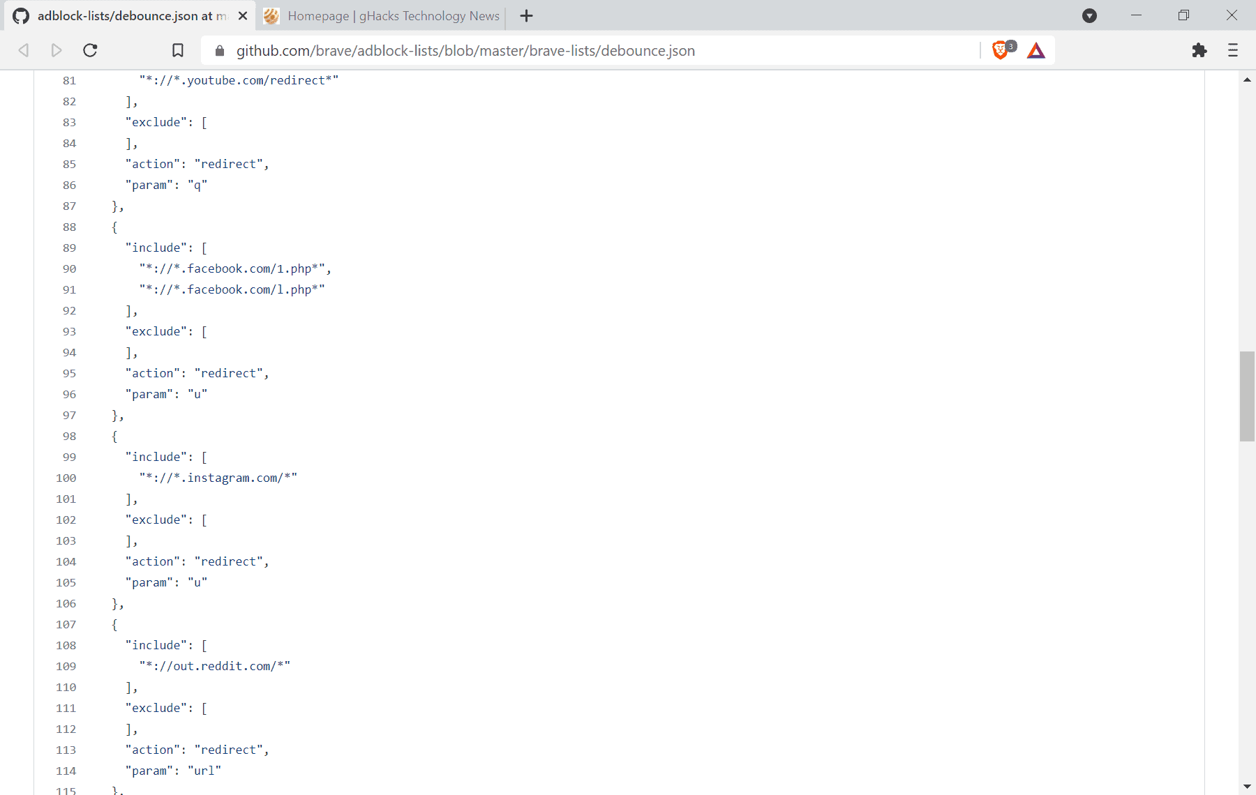 brave browser bounce tracking debouncing