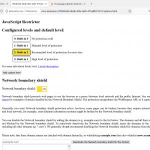 javascript restrictor