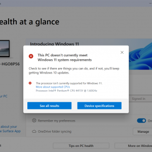 pc health check windows 11 requirements