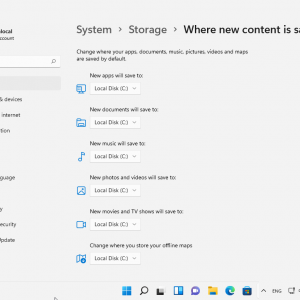 where new content is saved windows 11