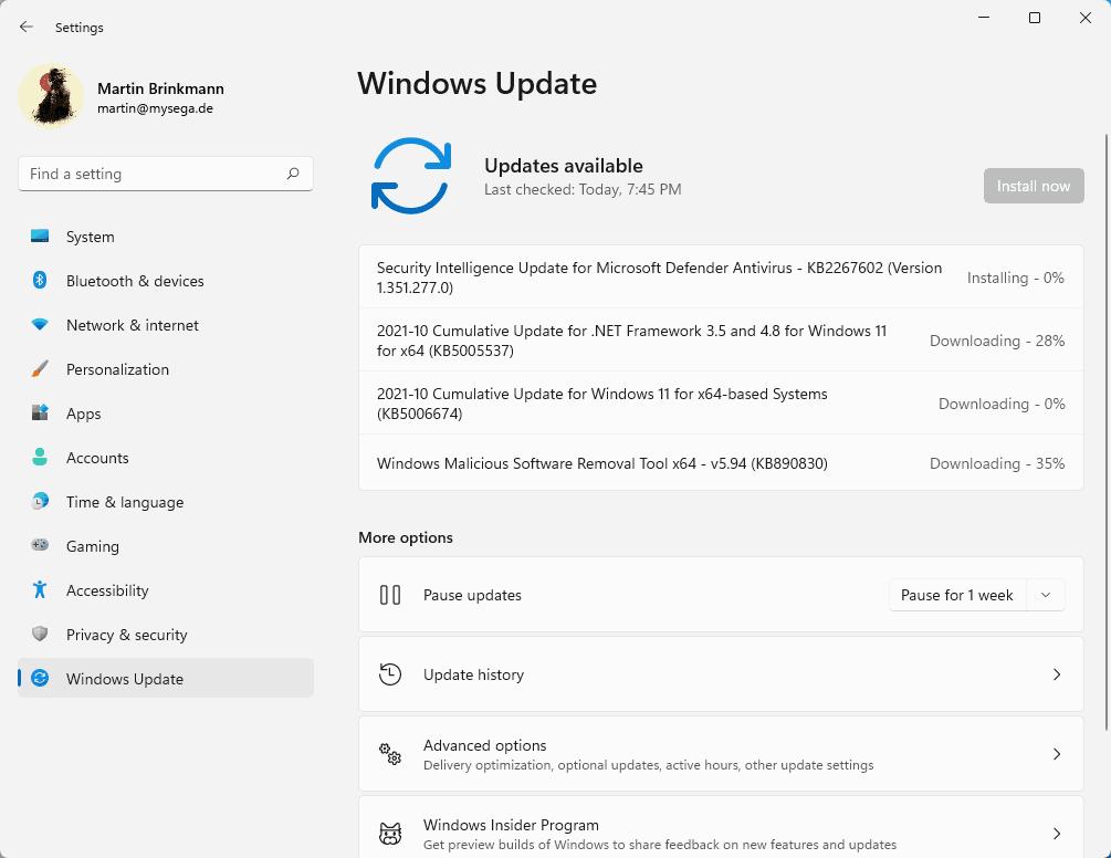windows security updates october 2021